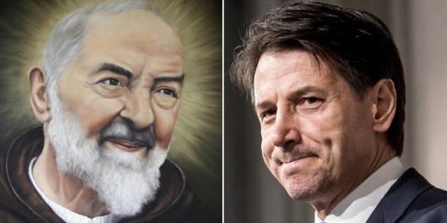 """Padre Pio nel portafogli di Conte: """"Lo porto sempre con"""