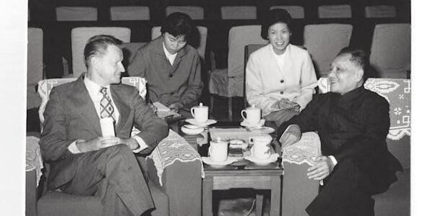 Then-U.S. National Security Adviser Zbigniew Brzezinskiwith former Chinese leaderDeng Xiaoping in Beijing in 1979.