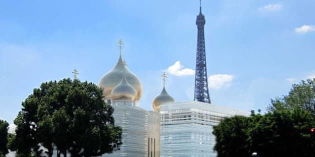 """Reproduction du nouveau """"centre spirituel et culturel orthodoxe"""" russe à Paris."""