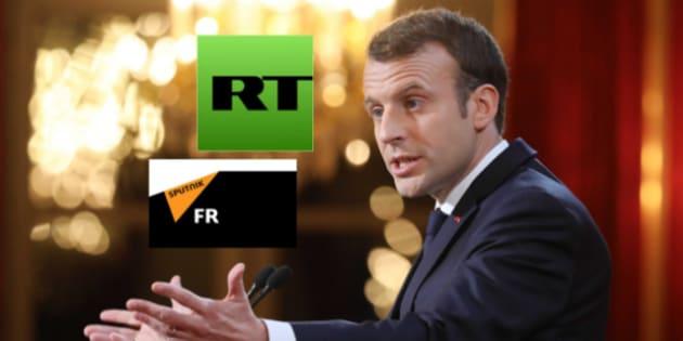 Comme l'avait souligné Macron en visant notamment lRT et Sputnik, la question des médias sous influence d'un Etat étranger figurera en bonne place des textes