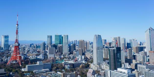 Panoramic view of Tokyo, Japan