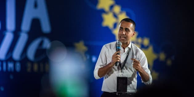 Italy's Minister of Labor and Industry Luigi Di Maio attends 'Italia 5 Stelle' kermesse of the M5S 5 Star Movement at the Circo Massimo, on October 20, 2018 in Rome, Italy (Photo by Andrea Ronchini/NurPhoto/Sipa USA)
