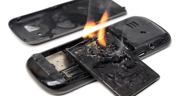 mobile phone battery explodes and caught on fire due to poor quality and overheat