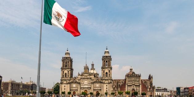 Vista del Zócalo de Ciudad de México.