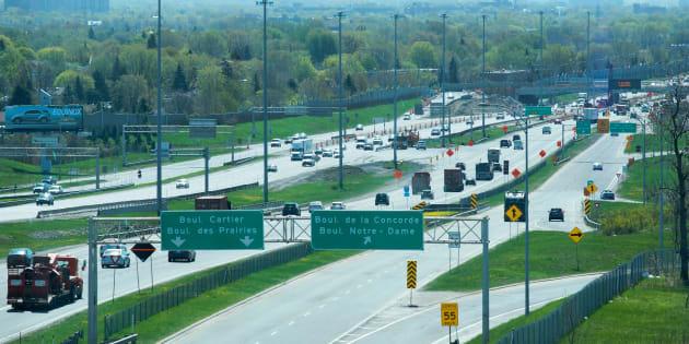 L'autoroute15 en direction sud à Laval