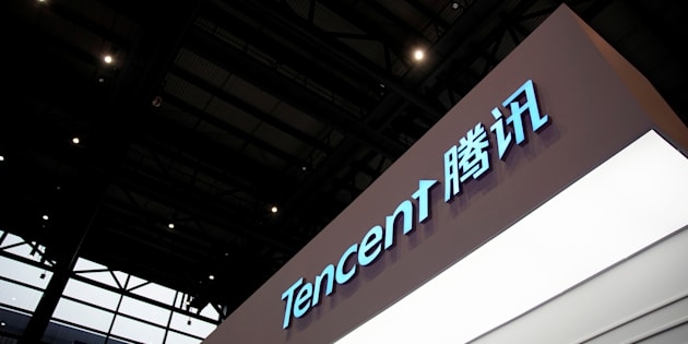 A sign of Tencent is seen during the fourth World Internet Conference in Wuzhen, Zhejiang province, China, December 3, 2017. REUTERS/Aly Song