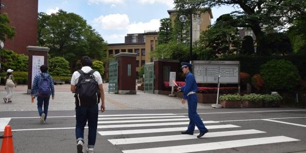 アメリカンフットボール部の練習場がある日本大学文理学部キャンパス=24日、東京都世田谷区