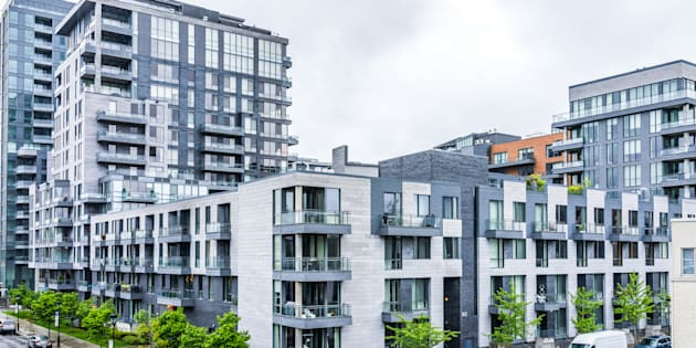A modern apartment complex is pictured in Montreal. Canada's overall vacancy rate dropped for a second year in a row, as demand for rental housing grew at a faster pace than supply, according to the Canada Mortgage Housing Corp.