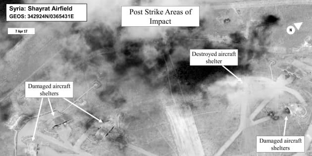 La frappe américaine a détruit 20% des capacités aériennes syriennes