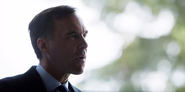 Finance Minister Bill Morneau speaks during the G7 finance ministers and central bank governors meeting in Whistler, B.C., on May 31, 2018.