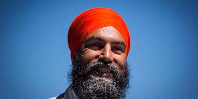NDP Leader Jagmeet Singh arrives for a news conference in Vancouver on July 13, 2018.