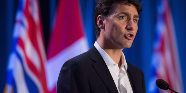 Prime Minister Justin Trudeau addresses a Liberal caucus retreat in Kelowna, B.C., on Sept. 6, 2017.