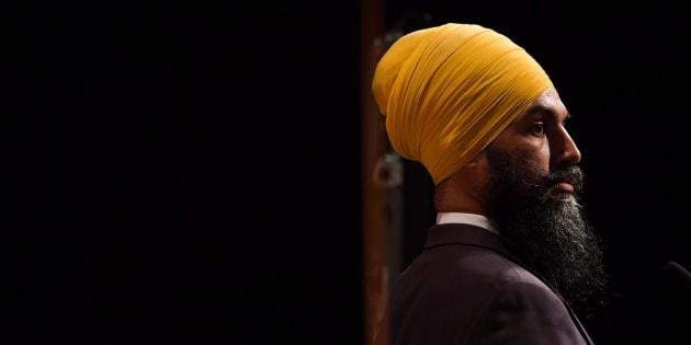 Jagmeet Singh listens during the final federal NDP leadership debate in Vancouver on Sept. 10, 2017.