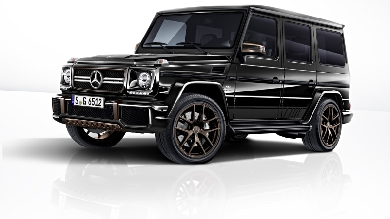Mercedes-AMG G65 Final Edition is a black and bron