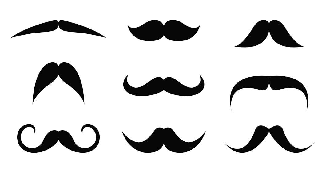 Black vector mustache collection