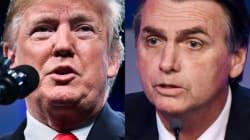 Trump parabeniza Bolsonaro no Twitter e diz querer maior aproximação