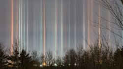 Canadian Web Developer Snaps Stunning Photos Of Light Pillars In The