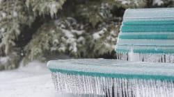 Ce garçon dérape sur la glace à Montréal et c'est
