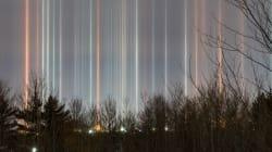 N.B. Web Developer Snaps Stunning Photos Of Light Pillars In The