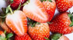 Aiguilles dans les fraises en Australie: une femme