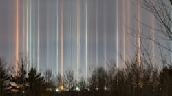 Stunning Photos Of Light Pillars In The Sky Captured In