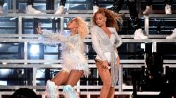 La genial reacción de Beyoncé tras caerse en el