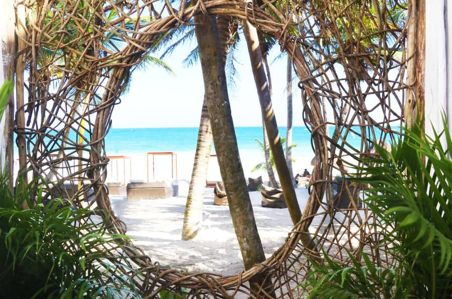 Vista al mar desde Los Amigos Beach, parte de Los Amigos de Tulum.