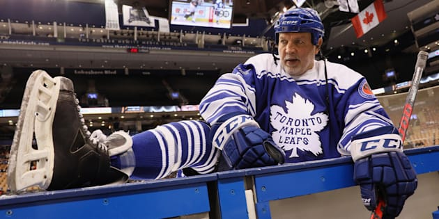 "Dave ""Tiger"" Williams stretches before the 2016 Hockey Hall of Fame Legends Classic game at the Air Canada Centre on Nov. 13, 2016 in Toronto."