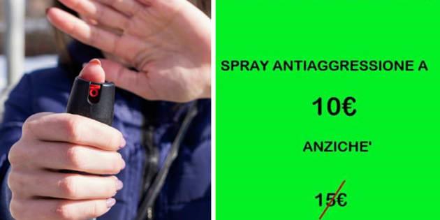 Sconti sullo spray anti-aggressione, in collaborazione con un