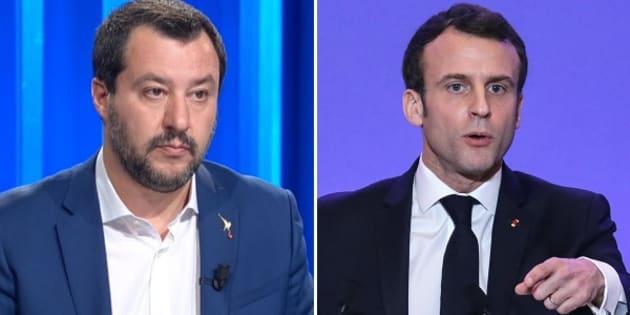 Matteo Salvini - Emmanuel Macron