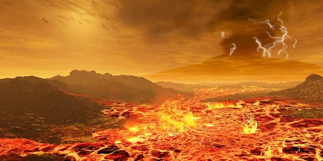 The sun as seen from the surface of Venus.