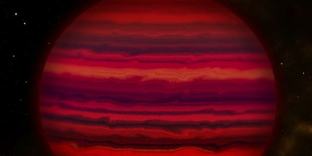 This artist's conception shows how WISE 0855 might appear if viewed up close in infrared light. The brown dwarf was discovered in 2014 and is 7.2 light years from Earth.