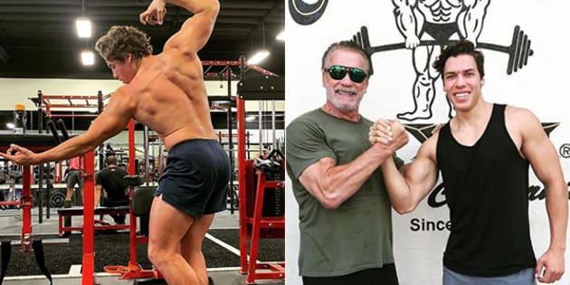Il figlio di Schwarzenegger imita (alla perfezione) una cele