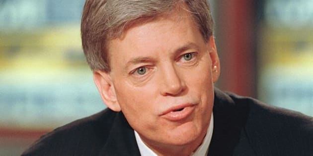 Former Klansman and congressional candidate David Duke discusses his bid for the seat opened by Rep. Bob Livingston during NBC's ''Meet the Press'' March 28, 1999 in Washington, DC. (photo by Richard Ellis)