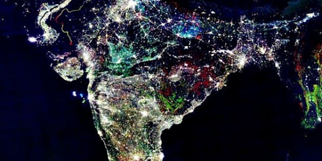 This photo, which is routinely circulated on Diwali, is described as a picture of India from space taken by NASA during the festival of lights. It's probably been shared millions of times, but it's actually a composite image, not a satellite photo on Diwali.