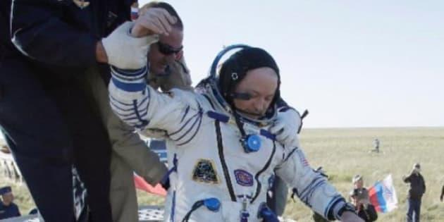 Los tres astronautas estuvieron 168 días en el espacio.