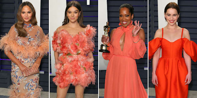 Chrissy Teigen, Hailee Steinfed, Regina King and Emilia Clarke at the 2019 Vanity Fair Oscar afterparty.