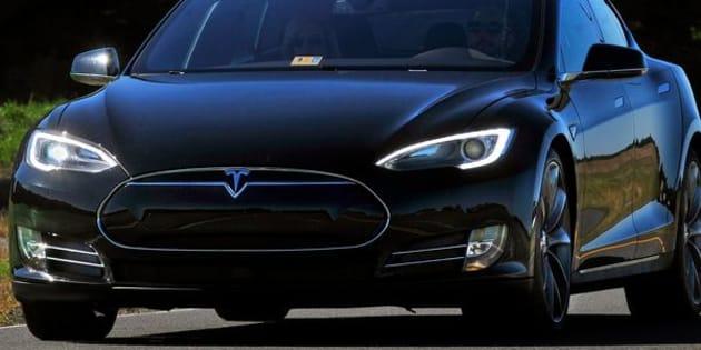 A Tesla Model S P90D.