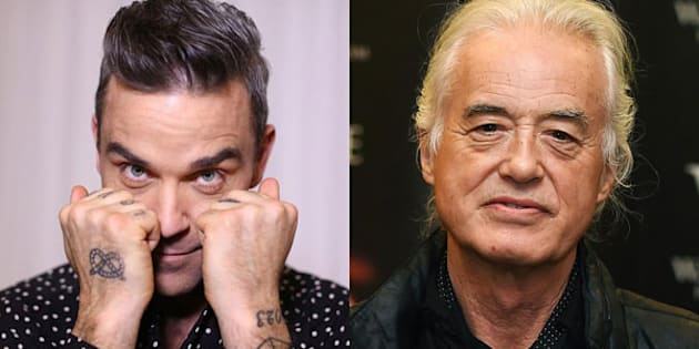 Robbie Williams tormenta Jimmy Page con la musica a tutto volume