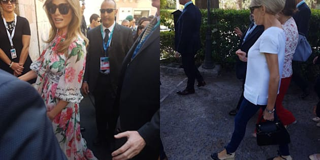 G7: Melania indossa soprabito D&G