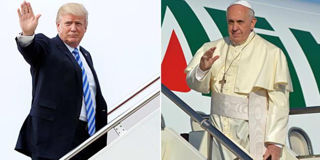Risultati immagini per trump e il papa immagini dei due