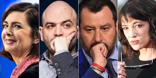 Asia Argento e Matteo Salvini litigano sui social: