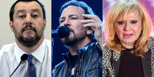 Rita Pavone contro i Pearl Jam, con l'appoggio di Salvini