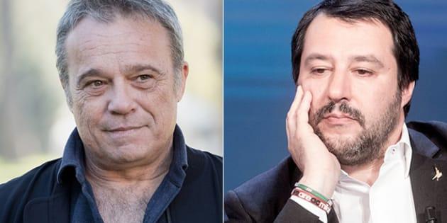 Claudio Amendola sostiene Salvini, i fan protestano