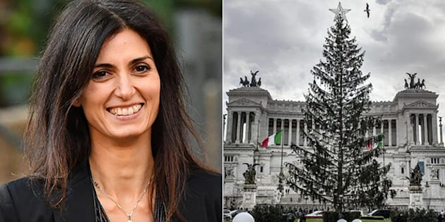 """Virginia Raggi: """"Un nuovo Spelacchio in piazza Venezia?"""