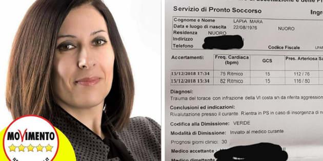 Mara Lapia pubblica il referto dopo l
