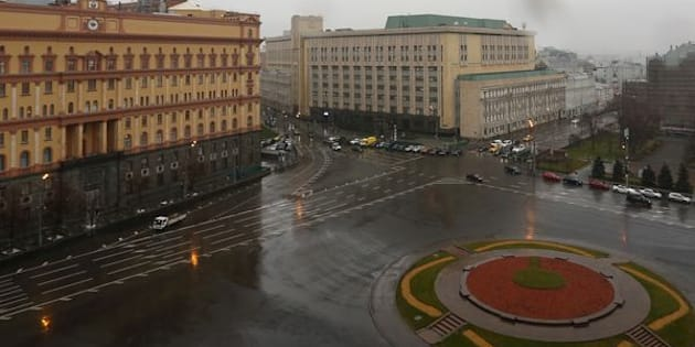 """A general view shows the headquarters of the Federal Security Service (FSB) (L) in central Moscow, Russia, November 10, 2015. Russia could be banned from international athletics, including the 2016 Olympic Games, after an anti-doping commission report on November 9 alleged widespread corruption and collusion that added up to a state-sponsored drugs culture in a sporting superpower. The commission, set up by the World Anti-Doping Agency (WADA), found a """"deeply rooted culture of cheating"""" in Russian athletics, which it said Russian state security services colluded with, and also identified what it called systemic failures in the global governing body, the International Association of Athletics Federations (IAAF). REUTERS/Sergei Karpukhin"""