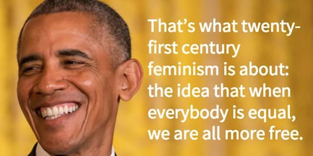 Barack Obama, Feminist-In-Chief.