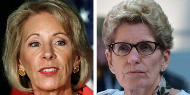 The NDP called on the Ontario government to not allow Betsy DeVos to tour schools in the province — a position Kathleen Wynne says she doesn't understand.