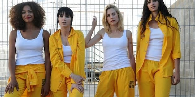 Berta Vázquez (La Rizos), Nawja Nimri (Zulema), Maggie Civantos (Maca) y Alba Flores  (Saray).